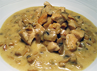 Chicken Breast Pieces in a Creamy Mushroom Sauce
