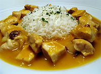 Chicken with Mango Sauce